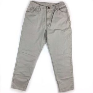 Vintage tapered wrangler khaki carrot high rise